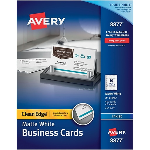 Avery clean edge 08877 two side printable business card white httpsstaples 3ps7is reheart Choice Image