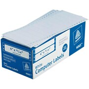 "Avery® 4065 White Pin-Fed Computer Labels, 4"" x 15/16"", 5,000/Box"