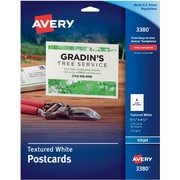 "Avery® Textured Inkjet Postcards, 4 1/4"" x 5 1/2"", Uncoated"