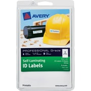 Avery® Durable Self-Laminating ID Labels - 4 x 6 Sheets, 3/4 x 3 1/4, 25/Pack (7278200760)