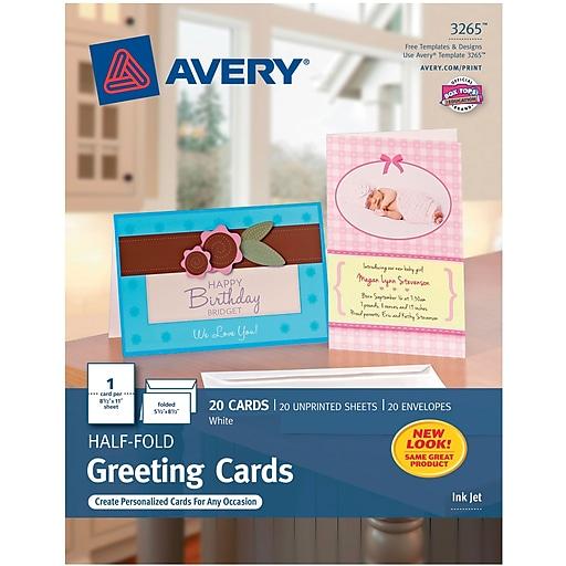 Avery inkjet half fold greeting cards white matte 5 12 x 8 12 httpsstaples 3ps7is m4hsunfo