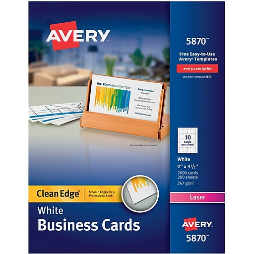 Averyr two side printable clean edger business cards for laser httpsstaples 3ps7is reheart Choice Image