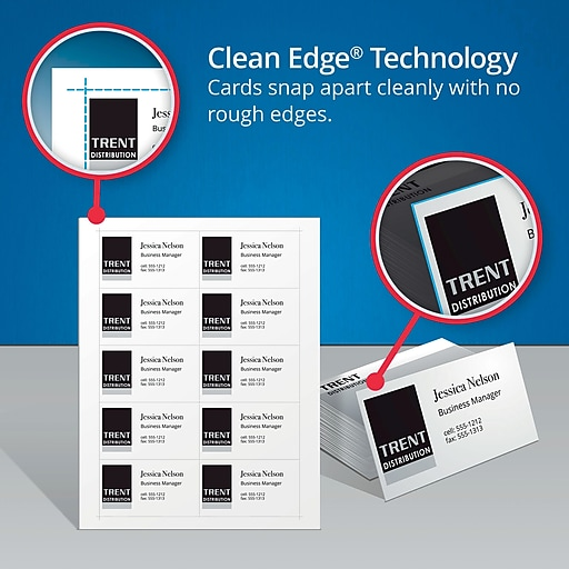 avery r two side printable clean edge r business cards for laser