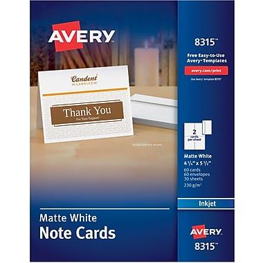 Avery note card templates avery inkjet notecards white matte finish 60 pack solutioingenieria Choice Image