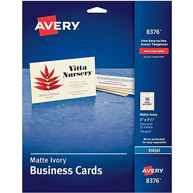 Business card template word avery inkjet business cards ivory 2 x 3 12 pronofoot35fo Gallery