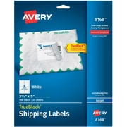 "Avery ® 8168 White Shipping Label With TrueBlock ® Technology, 3 1/2""(W) x 5""(L), 100/Pack"