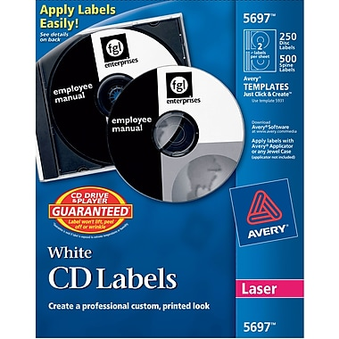 Cd label template avery matte laser cddvd labels white 250pack ave5697 maxwellsz