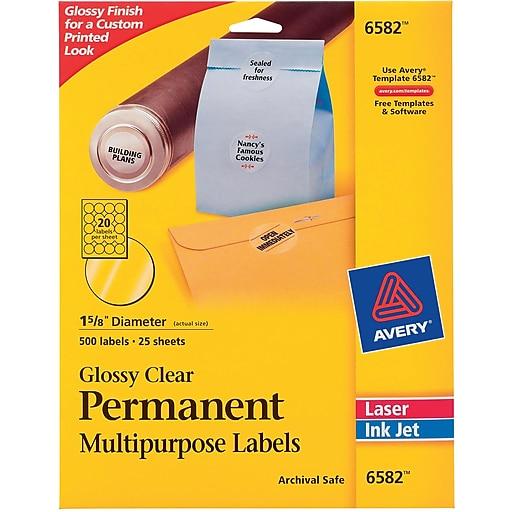 Avery 163 Dia Inkjetlaser Multipurpose Round Shipping Labels
