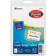 """Avery(R) White Adhesive Name Tags 5152, 2 1/3"""" x 3 3/8"""", Pack of 40"""