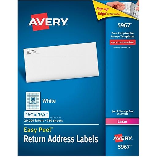 Avery X Laser Address Labels White Pack - Staples return address labels template