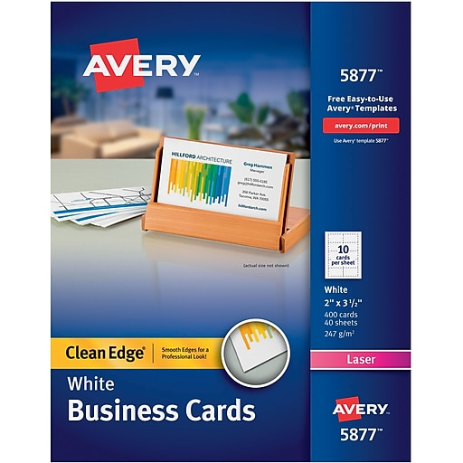 Avery clean edge two side printable colorlaser business cards httpsstaples 3ps7is reheart Image collections
