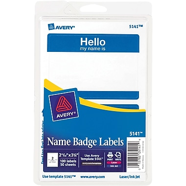Avery; Print-or-Write Name Tags,