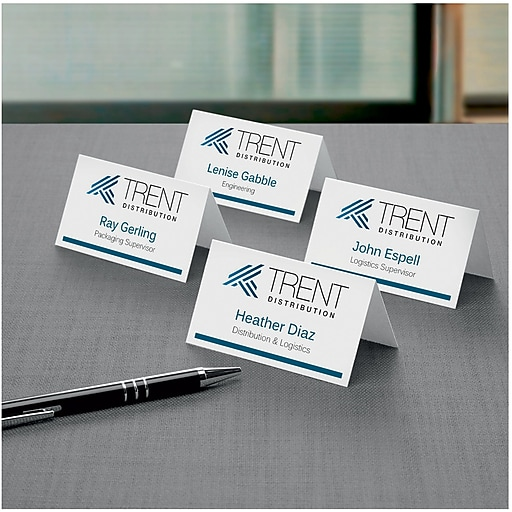 Avery Laser Inkjet Tent Cards X Staples - Staples place cards template