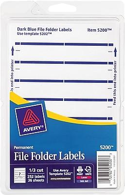Adamas-Beta 168 Pieces File Folder Labels Name Filing Envelopes Label Stickers Size 13/×38mm//0.51x2.28inch