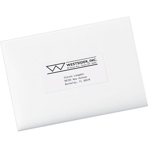Avery 5352 White Copier Shipping Labels 2 X 4 14 1000box