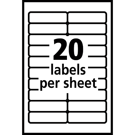 Avery 5422 Print Or Write Multiuse Id Labels 12h X 1 34l 840