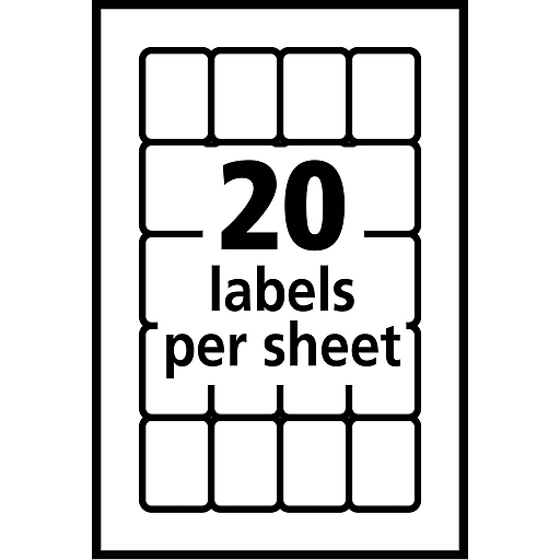 Avery 5428 Print Or Write Multiuse Id Labels 34h X 1l 1000