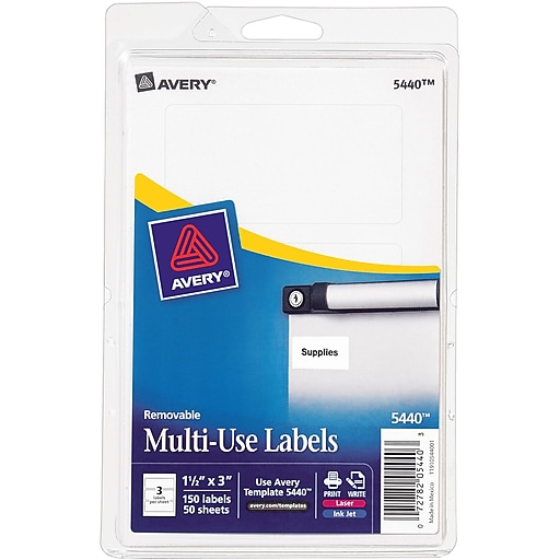 Avery 5440 print or write multiuse id labels 1 12h x 3l 150 httpsstaples 3ps7is maxwellsz