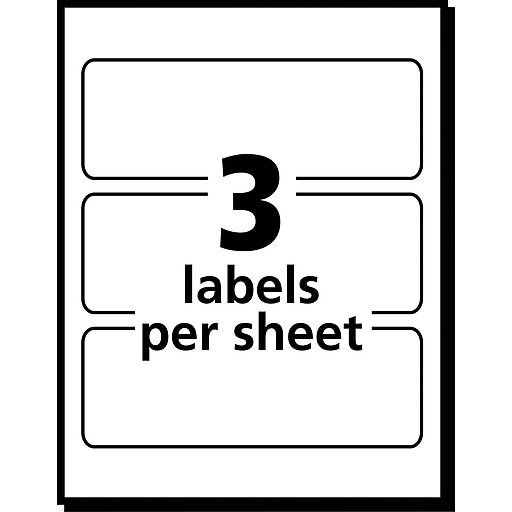 Avery 5440 Print Or Write Multiuse Id Labels 1 12h X 3l 150