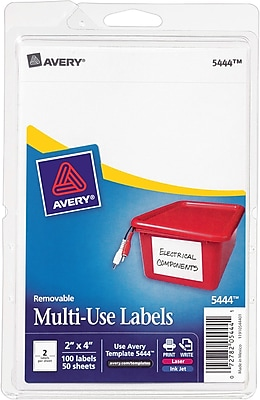 Avery® 5444 Print-or-Write Multiuse ID Labels, 2