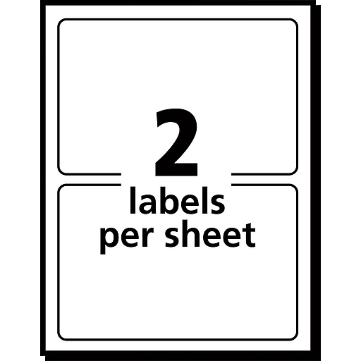 Avery 5444 Print Or Write Multiuse Id Labels 2h X 4l 100pack