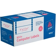 "Avery® 4014 White Pin-Fed Computer Labels, 4"" x 1-7/16"", 5,000/Box"