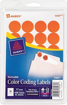 Avery® 5465 Round 3/4