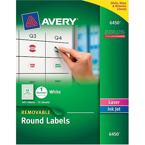 Avery Textured White Scallop Round Tags 80503, 2-1/2