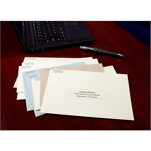 Avery 5662 Clear Laser Address Labels With Easy Peel 1 13 X 4
