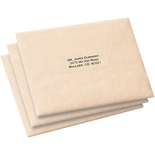 Avery 1 X 2 58 5660 Clear Laser Address Labels With Easy Peel
