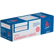 "Avery  Pin-Fed Computer Labels, 3-1/2"" x 15/16"", White, 5000/Box (4013)"