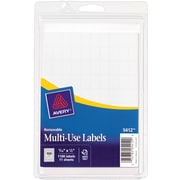 Avery 5412 Multiuse ID Labels, 5/16 inch H x 1/2 inch L, 1,000 Per Pack by