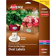 Avery Oval Labels