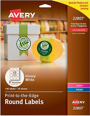 Avery Laser/Inkjet Round Easy Peel, 2