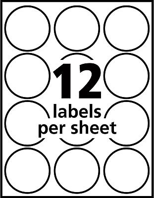 Avery Easy Peel Print-to-the-Edge Glossy Round Label, True