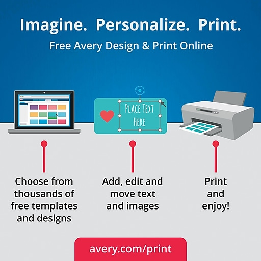 Avery Easy Peel Laser/Inkjet Multipurpose Labels, 2