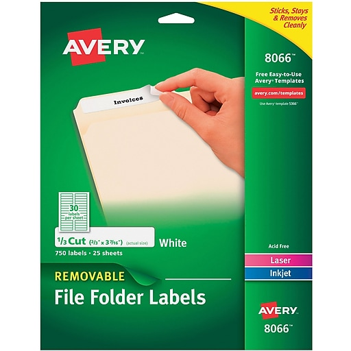 Avery White Removable File Folder Labels 750pack 806608205