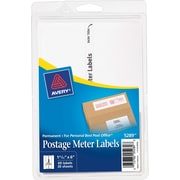 """Avery® 5289 Postage Meter Labels for Pitney Bowes® Personal Post Office, 1 3/16"""" X 6"""" (13931/5289)"""