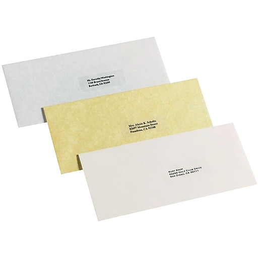 avery 5630 clear laser address labels with easy peel 1 x 2 5 8