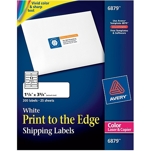 avery color printing matte white laser address labels staples