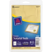 Avery® 5868 Print-or-Write Notarial Labels, Gold, 44/Pack
