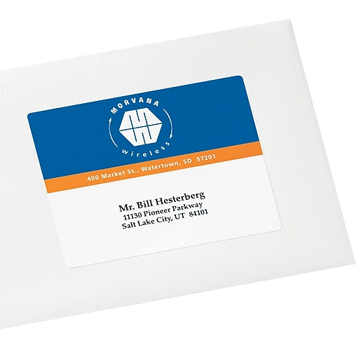 Avery 6878 Color Printing Matte White Laser Shipping Labels 3 34