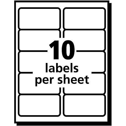 Avery 8663 Clear Inkjet Shipping Labels With Easy Peel 2 X 4