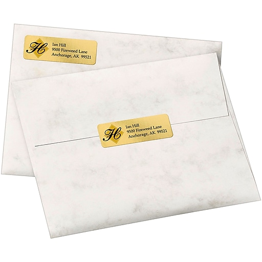 Avery 8987 Gold Foil Inkjet Return Address Labels 34 X 2 14