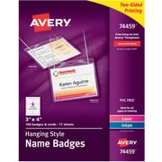 Avery 74459 Hanging Name Tags, 3 inch x 4 inch , White by