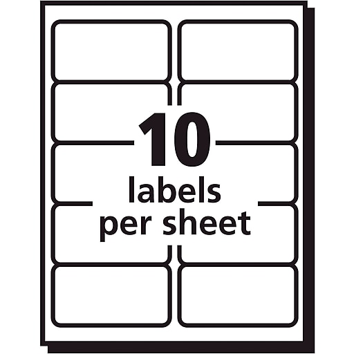 Avery 2 X 4 Clear Laser Shipping Labels With Easy Peel 500box