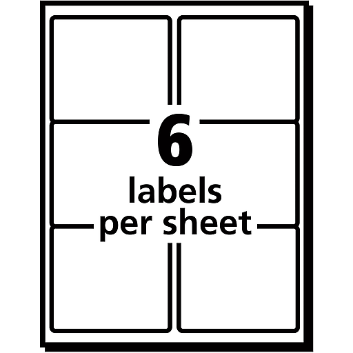 Avery 3 13 X 4 Laser Shipping Labels With Trueblock White 150