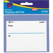 """Avery® To & From Shipping Label Pad, 2-5/8"""" x 3-3/4"""", 40/Pack"""