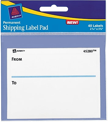 Avery® To & From Shipping Label Pad, 2-5/8