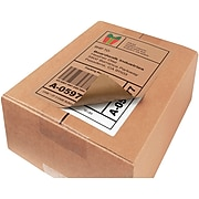 """Avery Laser/Inkjet Shipping Label, 8 1/2"""" x 8 1/2"""", Brown, 2 Labels/Sheet, 25 Sheets/Pack (5783)"""